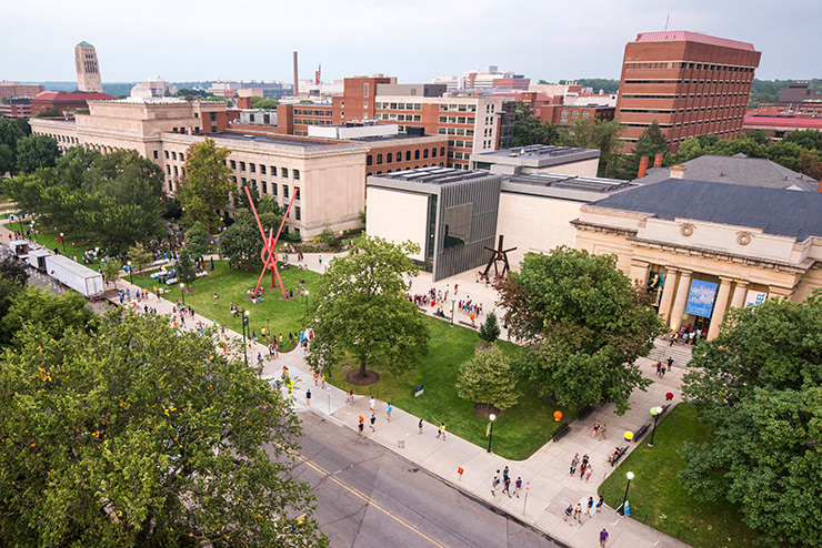 Campus view from above